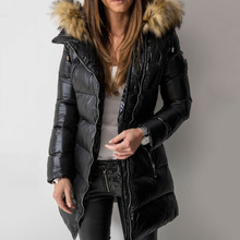 Coat Women Winter Parka Coats 2019 Casual Warm Female Outwear Overcoats Long Sle