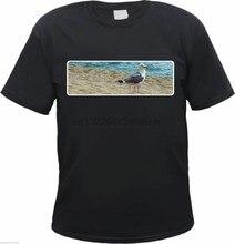 T-Shirt mit Motiv - MoWE STRANG MEER - Schwarz - S bis 3XL - laridae strand