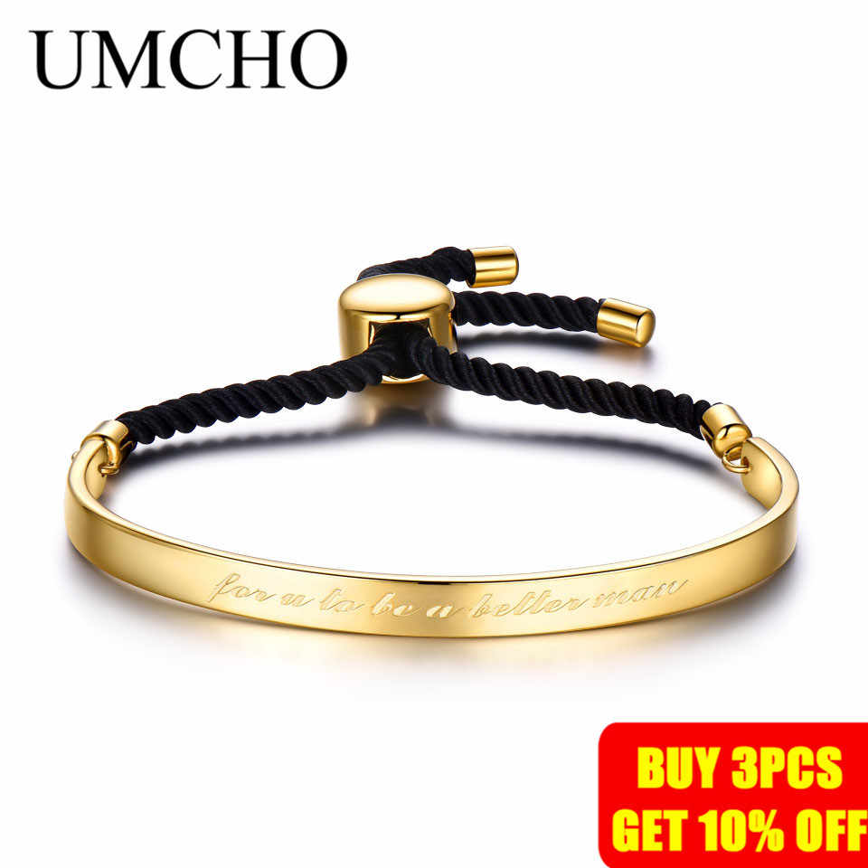 UMCHO 固体 925 スターリングシルバー腕輪自由膨張記念ブレスレットギフトのカップル女性の高級とカジュアル腕輪