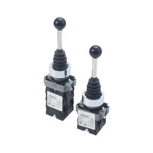 Image 4 - XB2 PA12 xd2 pa12 pa14 2NO 2position 2no2nc 4position Cross push button switch Latching Locking MomentaryJoystick SwitchPA22PA24