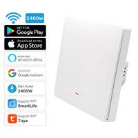 1Gang Tuya Smart Switch WiFi Plush Button Switch AC 100-240V 2400W Smart Home Automation Works With Alexa Google Home 1