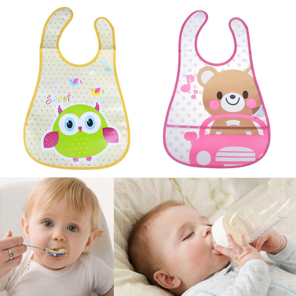 Cute Cartoon Baby Kids Bibs Waterproof Saliva Towel Feeding Bandana Apron Cloths