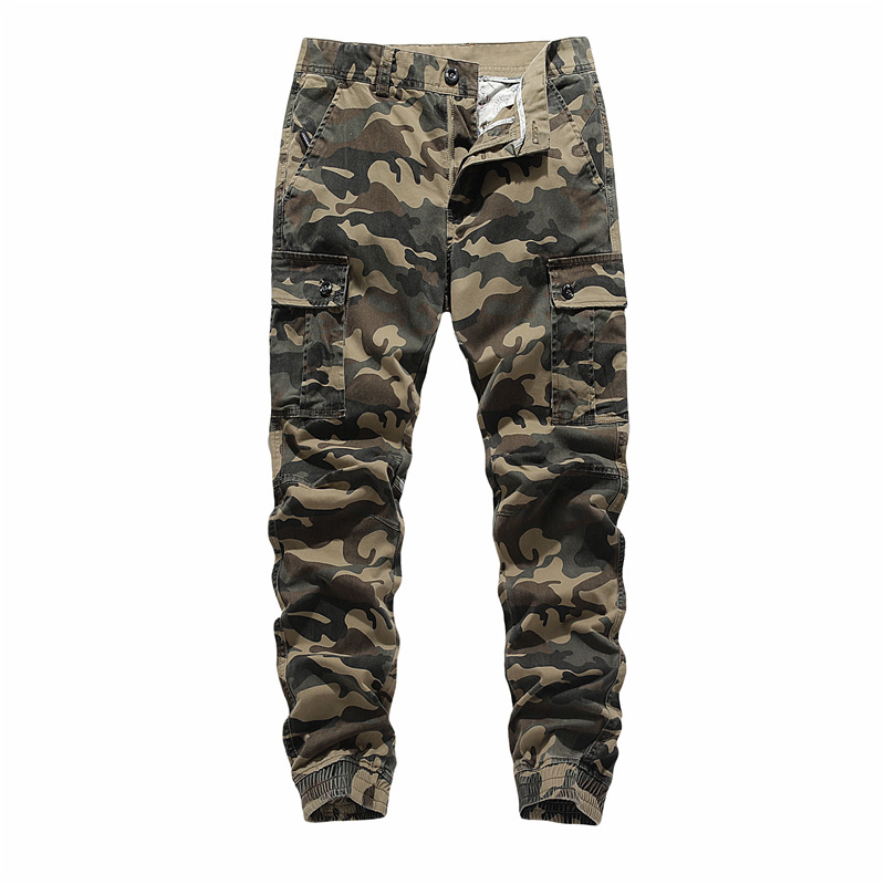 Men's Casual Military Joggers Pants 2020 Autumn Winter Camouflage Cargo Pants with Pockets Fashion Streetwear Tactical Pants