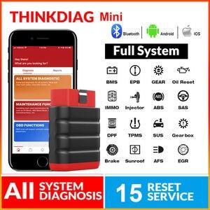 Image 1 - ThinkCar ThinkDiag Mini Bluetooth OBD2 Scanner Automotivo OBD 2 TPMS Code Reader Car Diagnostic Tool PK AP200 Thinkdiag MINI