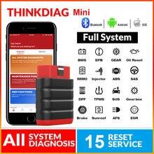ThinkCar ThinkDiag Mini Bluetooth skaner OBD2 Automotivo OBD 2 czytnik kodów TPMS narzędzie diagnostyczne do samochodów PK AP200 Thinkdiag MINI