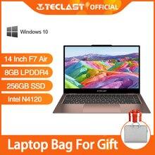 Teclast F7 Air Intel N4120 ноутбук 14 дюймов Тетрадь Windows 10 8 Гб LPDDR4 256 ГБ SSD 1920x1080 4 ядра 1,1 ГГц
