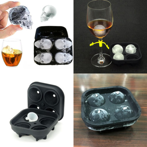 3D Bullet Shaped Freezer Ice Cube Tray Mold Maker Bar Party Drink Tools