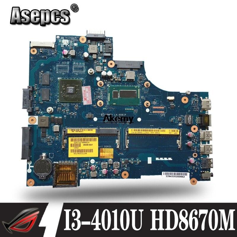 LA-9981P Laptop Motherboard For Dell Inspiron 15R-3537 5537 Original Mainboard I3-4010U HD8670M