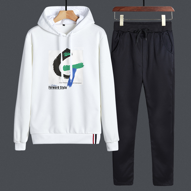 2019 Autumn & Winter New Style Sports MEN'S Casual Suit Trousers Youth Popularity Hooded Fashion Fashion