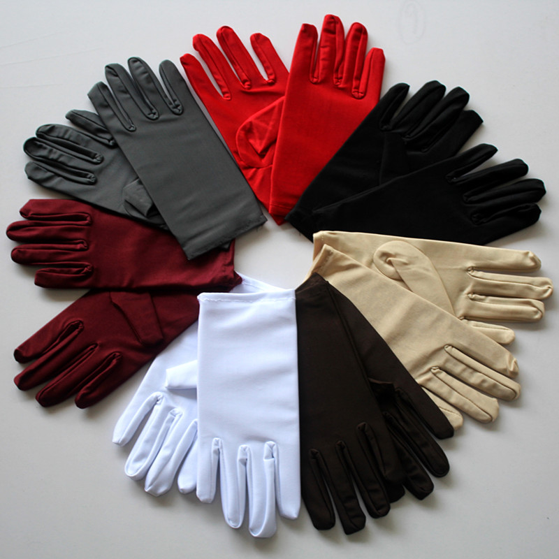 Portable Fashion Simple Protective Glooves Summer Gloves Men Women Spandex Ceremonial Gloves Smooth Stretch Solid Elbow Unisex