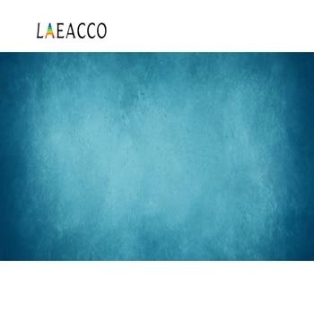 Laeacco foto Backdrops gradiente Color azul sólido pared fiesta amor pared retrato de bebé fotografía fondos para estudio fotográfico