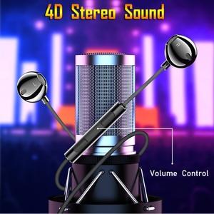 Image 5 - 重低音タイプcサムスンxiaomi redmi 3.5 ミリメートルジャック耳耳電話ヘッドセットマイクボリューム制御typecイヤホン