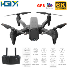 HGIYI H6 4K 6K GPS Drone 4k zawód kamera HD z 2 4G 5G WiFi dron Fpv wysokość utrzymać drony aparat zabawki-helikoptery E525 cheap 4 k hd nagrywania wideo 720 p hd video recording 1080 p hd video recording CN (pochodzenie) Kamera w zestawie Brak 400m