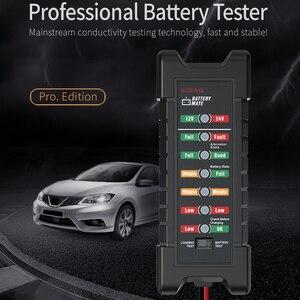 Image 4 - 12V 24V Auto Batterij Tester Met 6 Led Verlichting Intelligente Maaier Detector Diagnostisch Batterij Capaciteit Checker Diagnostic Tool