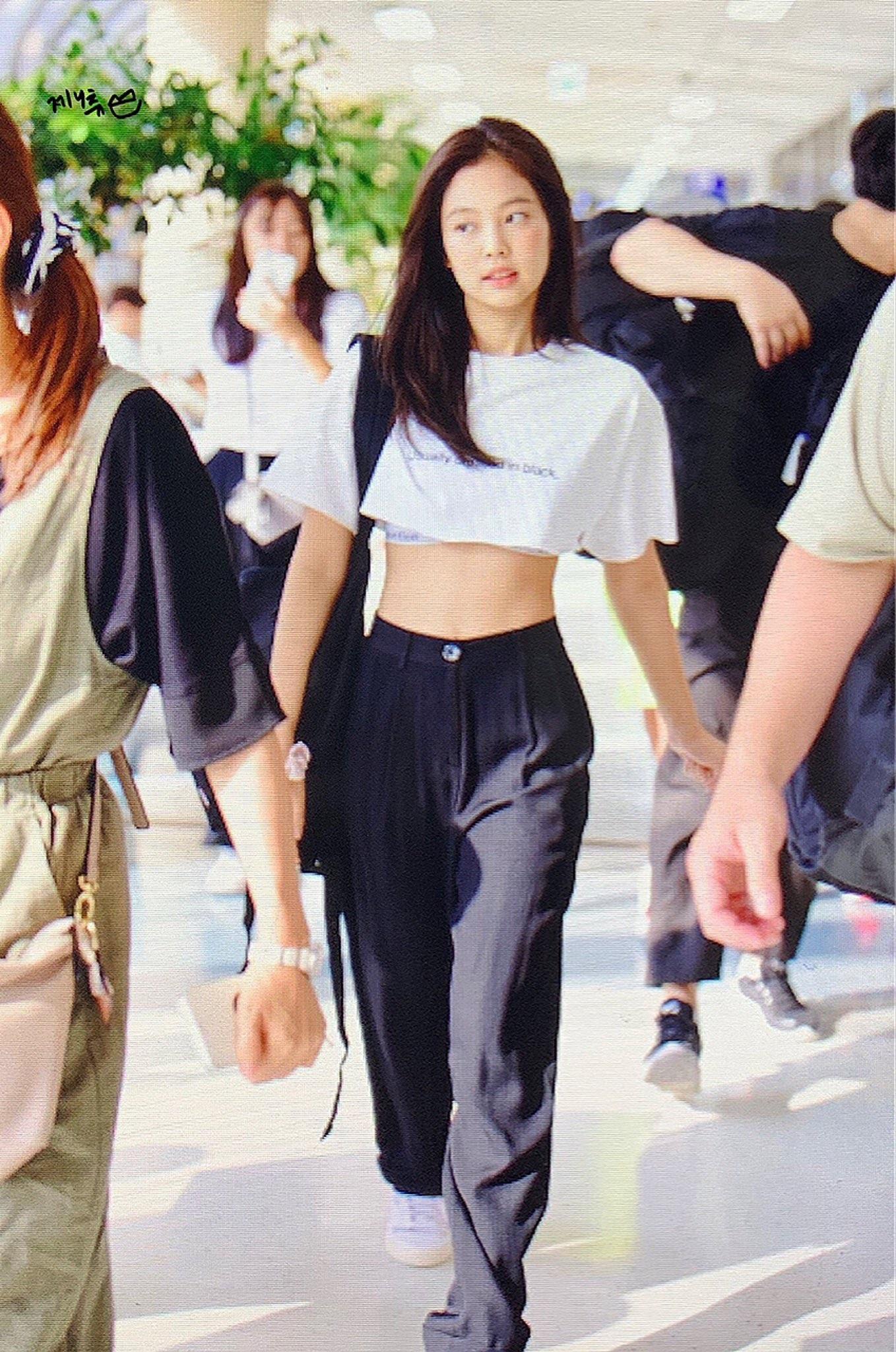 Kpop Blackpink JENNIE Korea Summer Straight Pants Women Streetwear Black Fashion High Waist Loose Trousers Casual Wide Leg Pants