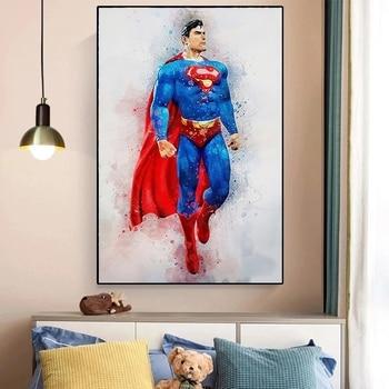 Marvel Cartoon Superhero Wall Art Printed on Canvas 3
