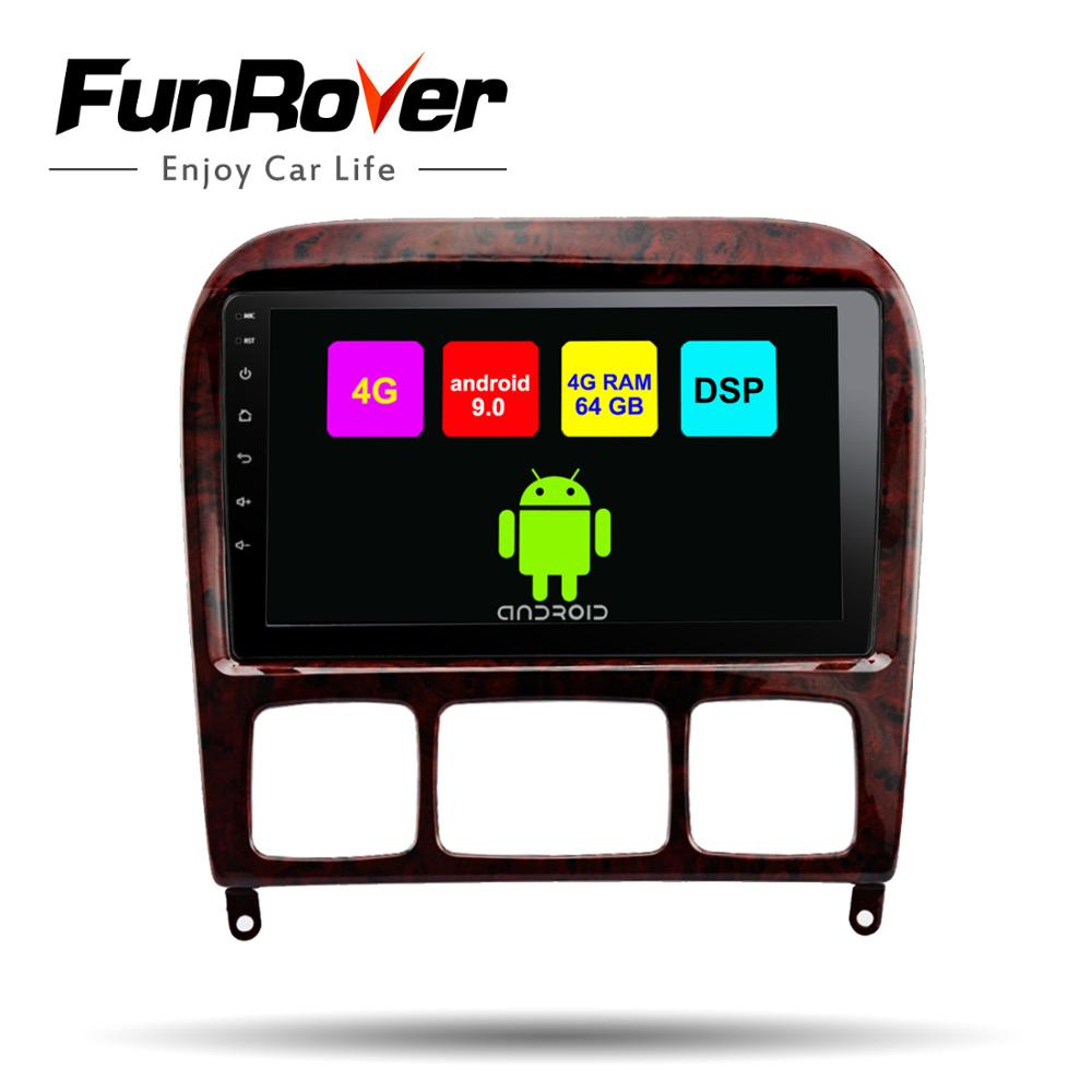 Funrover android 9.0 2 din car radio <font><b>gps</b></font> player <font><b>For</b></font> <font><b>Mercedes</b></font> Benz S Class S280 S320 S350 S400 <font><b>S500</b></font> W220 W215 car dvd navi 4G+64G image