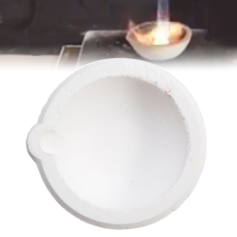 Quartz Silica Melting Crucible Smelting Bowl Casting Refining Gold Silver 150g