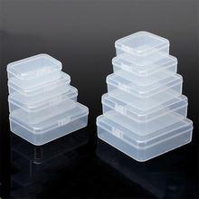 1 шт пластиковый прозрачный мини контейнер для хранения