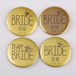 20 unidades/pacote festa de casamento decoração emblema equipe noiva dama de honra decoração distintivo despedida de solteiro noiva para ser fontes de festa de casamento