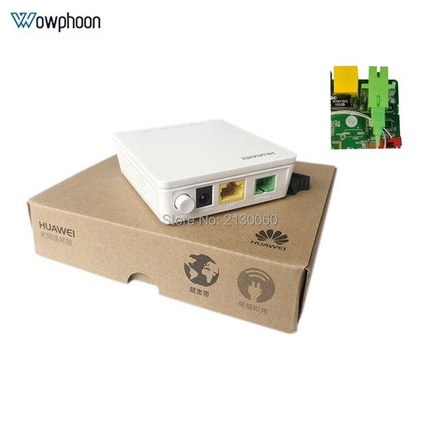 חדש Huawei HG8010H Gpon האופטי מסוף ONU ONT עם 1 GE יציאות ethernet, SC APC ממשק אנגלית הקושחה