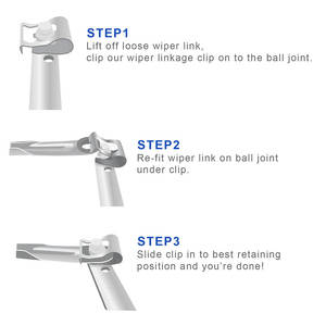 Hot Pair of Windscreen Wiper Motor Linkage Rods Arms Link Mechanism Repair Clip Kit
