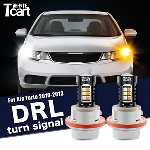 Image 1 - For Kia Forte Cerato Shuma Koup TD 2008 2009 2010 2011 2012 2PCS Led drl Daytime Running Light Turn Signal 2IN1 Car accessories