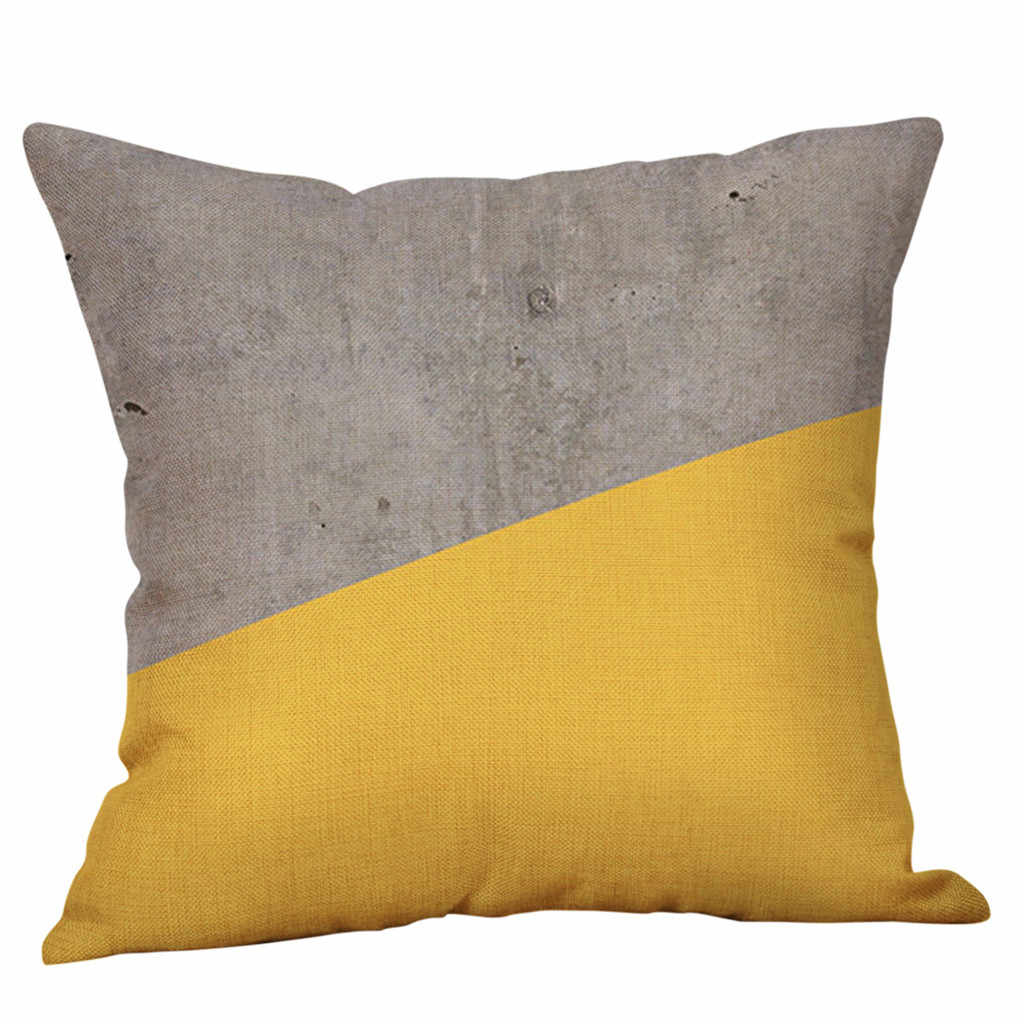 Sarung Bantal Baru Mustard Case Kuning Geometris Musim Gugur Dekoratif Bantal Cover Rumah De Coussin Kussenhoes Sarung Bantal