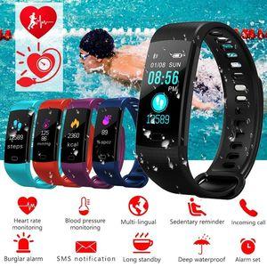 Esporte Equipamento de Fitness Y5 Monitor de Tela Colorida De Medição da Pressão Arterial Do Bluetooth Monitor de Freqüência Cardíaca