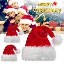 Santa Claus Caps Hut mit Plüsch Trim Komfortable für Weihnachten Party Kostüm TN99