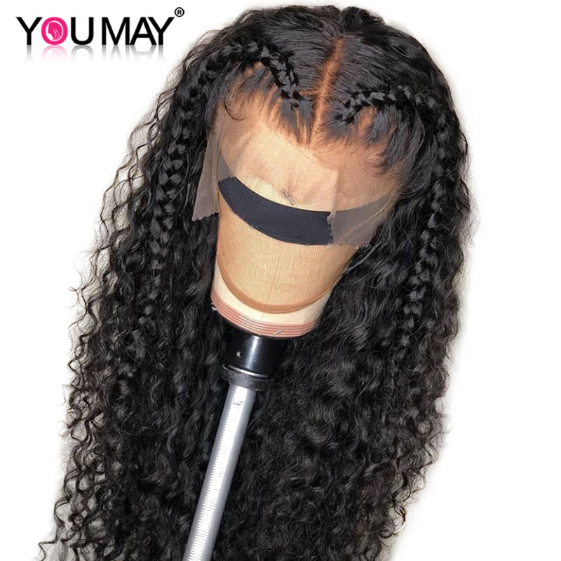 Fake Scalp 13x6 Lace Front Wigs Pre Plucked 250 Density Brazilian Curly Lace Front Human Hair Wigs For Women You May Remy Hair