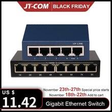 5 Ports 1000M Gigabit Ethernet commutateur, 8 Ports 100/1000Mpbs commutateurs réseau, Hub LAN, duplex intégral, Auto MDI/MDIX