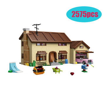 2575pcs Compatible lepining 16005 83004 THE Simpsons Series 71006 Models Building Simpsons House Building Blocks Toy Hobbies фото