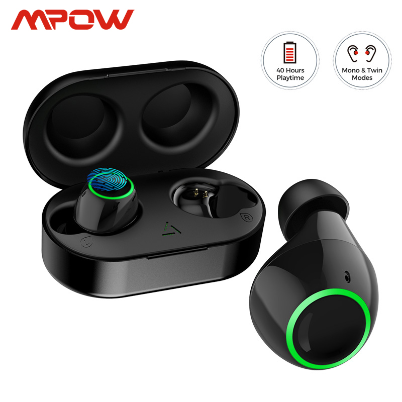 Mpow Updated T6 TWS Wireless Bluetooth 5.0 Earphones ipx7 Waterproof 40h Playing Time Wireless Earbud With Mic For iPhone Huawei Phone Earphones & Headphones  - AliExpress