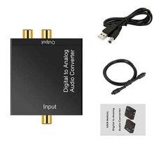 ABHU-AC Digital Optical Toslink SPDIF Coax zu Analog L/R RCA Audio Converter