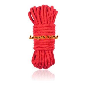 Image 1 - Corda de bondage 5m 10m de algodão, macio, corda de malha, bdsm, retrair, brinquedos sexuais para casal, mulheres, homens, brinquedos exóticos roleplay para mulheres homens gay