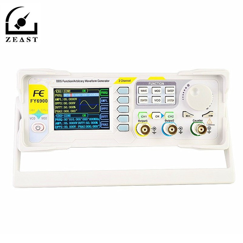 single channel DDS signal source function generator 5MHz frequency counter