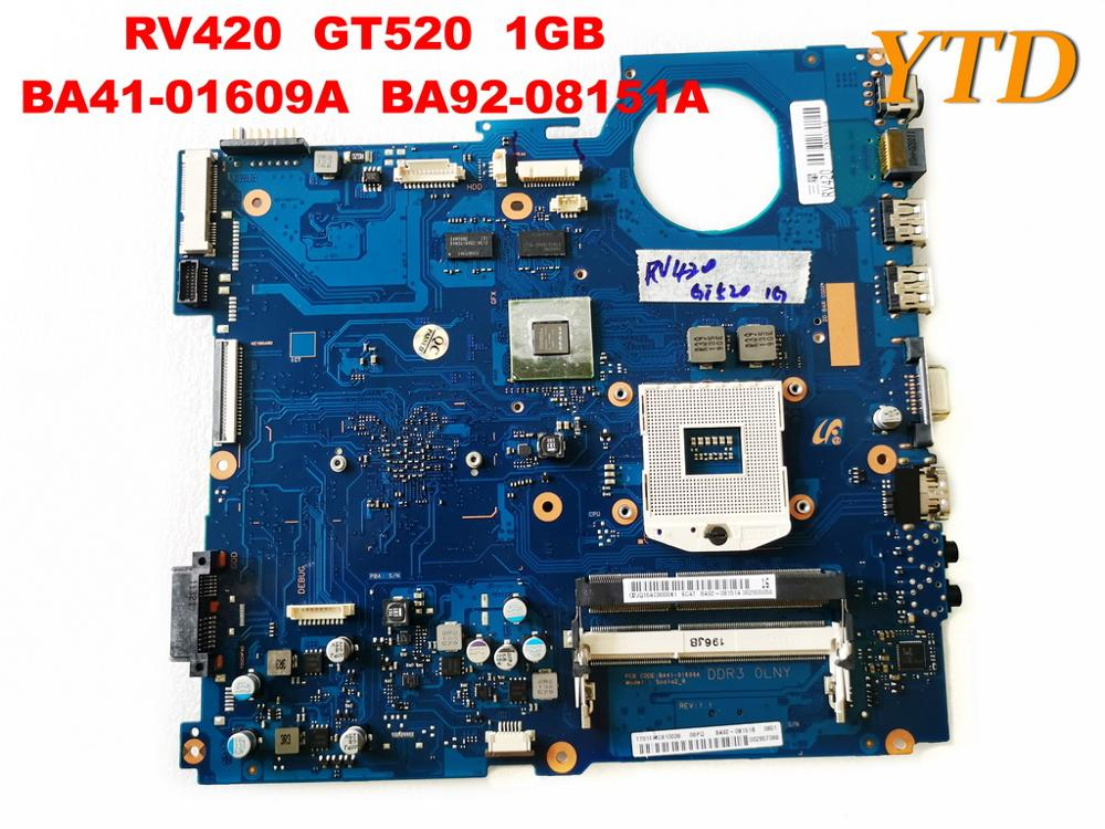 Original For SAMSUNG RV420 Laptop  Motherboard RV420  GT520  1GB  BA41-01609A  BA92-08151A Tested Good Free Shipping