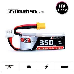 1 шт. GAONENG GNB 2S 7,6 V 350mAh HV 4,35 V 50C/100C Lipo XT30 батарея для ETAFPV Beta75X 2S Beta65X 2S Whoop крошечные дроны
