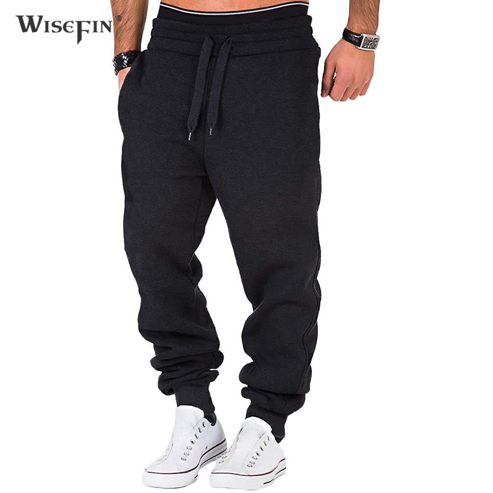 Winter Casual Sports Trousers Men Spring Warm Long Running Pants Workout Gyms Jogger Suit Skinny Legs Sweatpants Male D30