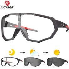X TIGER Photochromic מקוטב רכיבה על אופניים משקפיים חיצוני ספורט MTB אופניים אופני משקפי שמש משקפי אופני משקפי קוצר ראיה מסגרת