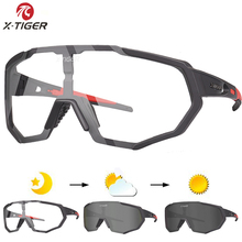 X TIGER Photochromic Polarized Cycling Glasses Outdoor Sports MTB Bicycle Bike Sunglasses Goggles Bike Eyewear Myopia Frame