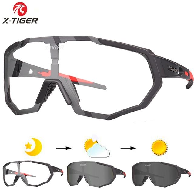 X TIGER Photochromic Polarized Cycling Glasses Outdoor Sports MTB Bicycle Bike Sunglasses Goggles Bike Eyewear Myopia Frame