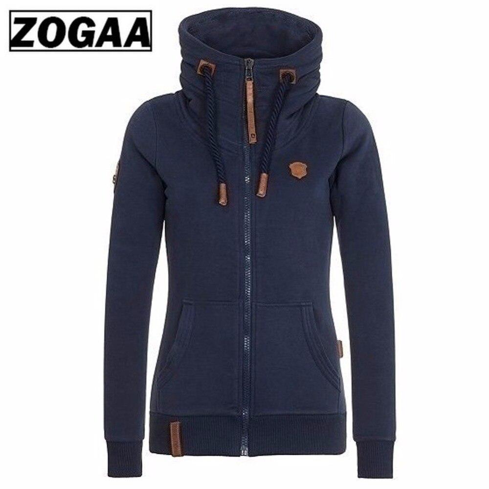 ZOGAA 2018 Women Fashion New Hoodie Jacket Zip Collar Zipper Sweatshirts Long Sleeve Pullover Tracksuits xxxxl Hoodies in Hoodies amp Sweatshirts from Women 39 s Clothing