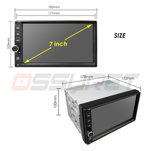 Image 4 - 2G RAM Android 10 Auto Radio Quad Core 7Inch 2DIN Universal Car NO DVD player GPS Stereo Audio Head unit Support DAB DVR OBD BT
