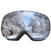 Лыжные очки UV400 защита сноуборд очки Анти-туман большой Лыжная маска очки снег снегоход Мужчины Женщины Катание на лыжах Спорт на открытом в...