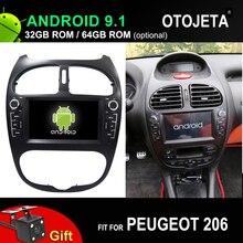 4G lte Восьмиядерный автомобильный Android 9,1 плеер для peugeot 206 Автомобильный gps мультимедийное головное устройство стерео магнитофон с камерой заднего хода