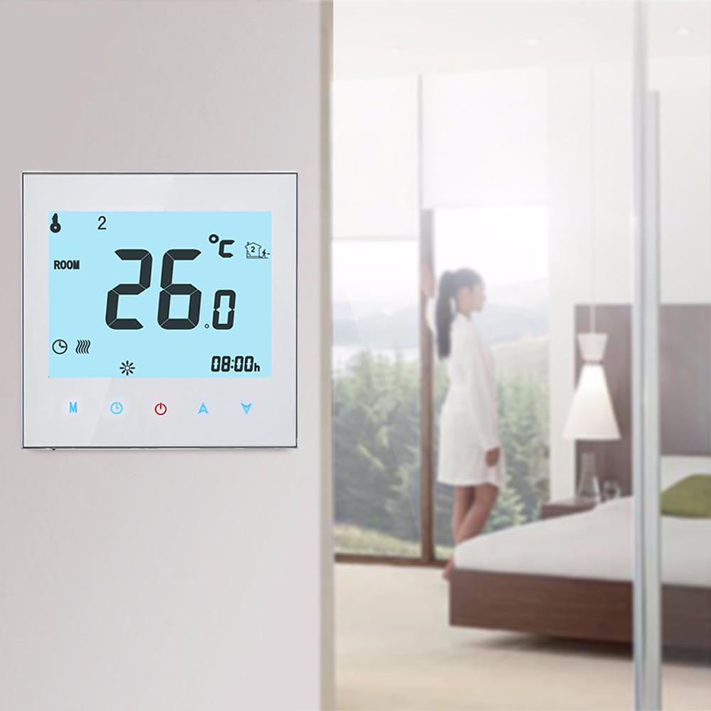 Water Heating Thermostat LCD Digital Touch Screen 3A 95V-240VAC Home Thermostat White /Black Wifi/No Wifi /Modbus Thermostat