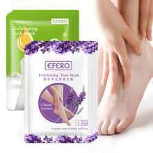 EFERO 2packs Lavender Moisture Foot Mask Remove Dead Skin Heels Foot Peeling Mask for Legs Exfoliating Socks for Pedicure Socks