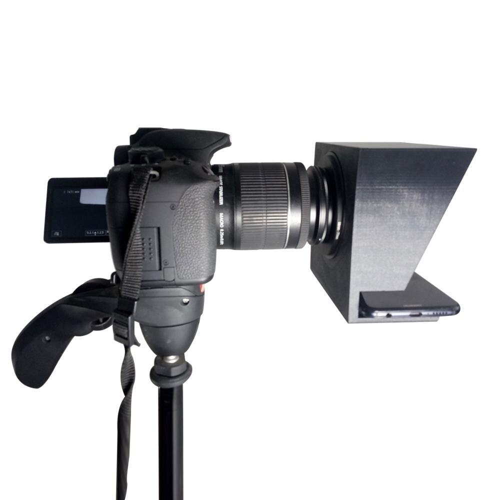 TZT Mini téléprompteur Portable inscripteur Mobile téléprompteur vidéo d'artefact avec télécommande - 4